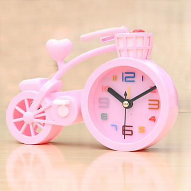 (Willekeurige kleur) fiets vorm mute wekker studenten elektronische lui slaapkamer kleine wekker