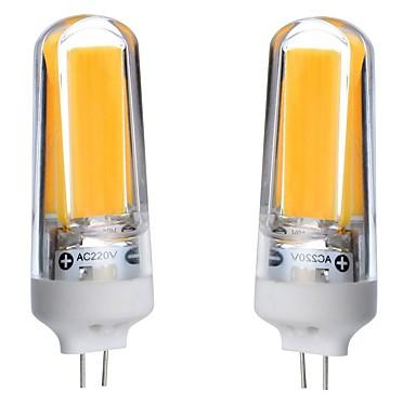 3W G4 LED-lamper med G-sokkel T 1 leds COB Vandtæt Dekorativ Dæmpbar Varm hvid Kold hvid Naturlig hvid 300-350lm 3000-6000K Vekselstrøm