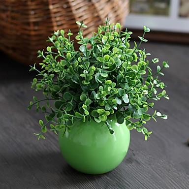 1 1 Afdeling Plastik Planter Bordblomst Kunstige blomster 19