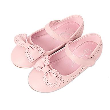 Tasapohjakengät-Tasapohja-Tytöt-Nahka-Musta Pinkki Valkoinen-Häät Puku Rento-Comfort