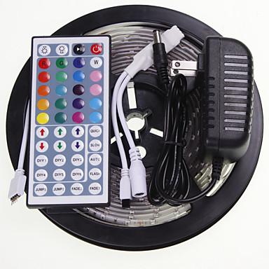 SENCART 5m RGB Regler 300 LEDs 5630 SMD RGB Fernbedienungskontrolle / Schneidbar / Wasserfest 100-240 V / Verbindbar / Für Fahrzeuge geeignet / Selbstklebend / Farbwechsel