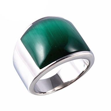 voordelige Herensieraden-Heren Statement Ring Synthetische Opaal Bruin Rood Groen Titanium Staal Opaal Statement Vintage Punk Feest Dagelijks Sieraden