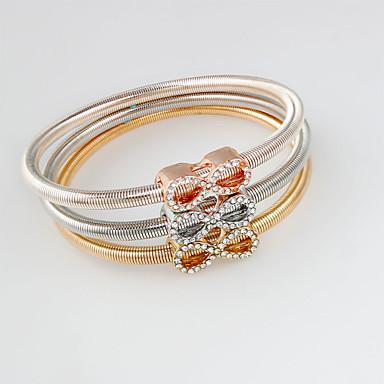 Dame Charm-armbånd Yndig Legering Butterfly Form Guld/Sølv Smykker For 1 Sæt