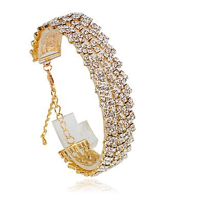 Dame Tennisarmbånd - Mode Armbånd Sølv / Gylden Til Bryllup