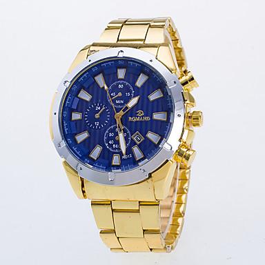 Herrn Kleideruhr Quartz / Armbanduhren für den Alltag Legierung Band Freizeit Gold