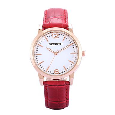 REBIRTH Damen Armbanduhr Modeuhr Quartz / Schlussverkauf Rose Gold überzogen PU Band Freizeit Minimalistisch Schwarz Rot Braun