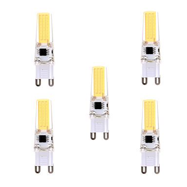 YWXLIGHT® 5pcs 400-500lm G9 LED-lamper med G-sokkel T 1 LED perler COB Mulighet for demping Dekorativ Varm hvit Kjølig hvit 110-130V