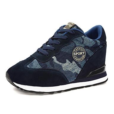 damesko ruskind forår / sommer / efterår / vinter komfort sneakers udendørs / atletisk / afslappet kilehæl