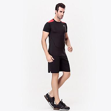 Homens Conjunto de Shorts e Camiseta de Corrida Manga Curta Secagem Rápida Respirável Compressão T-Shirt Running + Shorts Conjuntos de