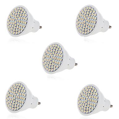 HRY 3W 2700-6500 lm GU10 GX5.3 LED-spotlys MR16 60 leds SMD 2835 Dekorativ Varm hvid Kold hvid AC 220-240V
