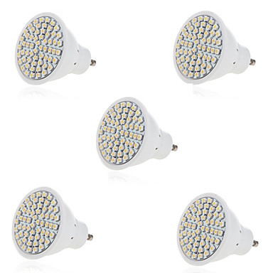 5pcs 3W 300lm GU10 GU5.3 LED-spotpærer 60 LED perler SMD 2835 Dekorativ Varm hvit Kjølig hvit 220-240V