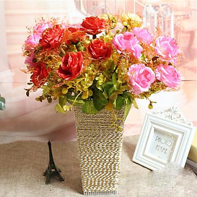 Keinotekoinen Flowers 1 haara Moderni tyyli Ruusut Pöytäkukka
