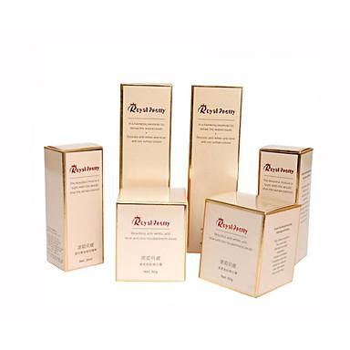 hvitt papir boks, trykking gull og sølv papp, mote farge boksene, kosmetikk bokser (en pakke 10)