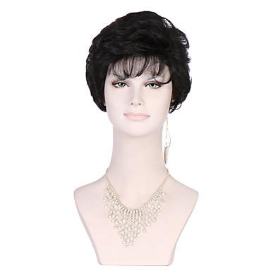 Cabelo Sintético perucas Encaracolado Sem Touca preto peruca Curto Preta