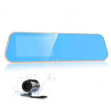 4,3 scherm dual lens recorder K10 hd groothoek achteruitkijkspiegel tachograaf nachtzicht 1080p