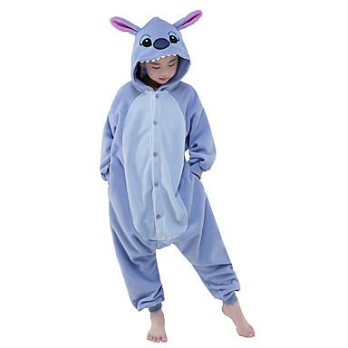 Pijama Kigurumi Blue Monster Monster Pijama Întreagă Costume Lână polară Albastru Cosplay Pentru Pentru copii Sleepwear Pentru Animale