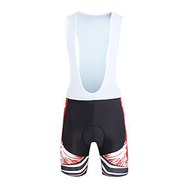 ILPALADINO Hombre Shorts Bib de Ciclismo Bicicleta Petos de deporte / Culotte con tirantes / Prendas de abajo Resistente al Viento, Transpirable, Almohadilla 3D Moda Licra Rojo Ciclismo de Pista