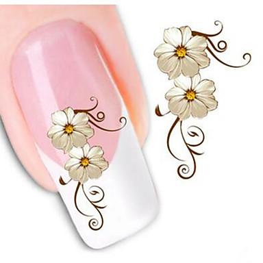 1 pcs 3D Negle Stickers Negle Smykker Neglekunst Manikyr pedikyr Klassisk Daglig / PVC / Nail Smykker / 3D Nail Stickers