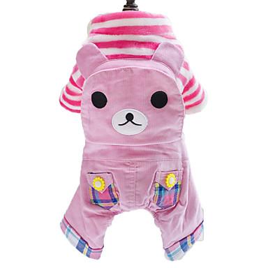 Hund Overall Hundekleidung Tier Rosa Khaki Baumwolle Kostüm Für Haustiere Herrn Damen Modisch