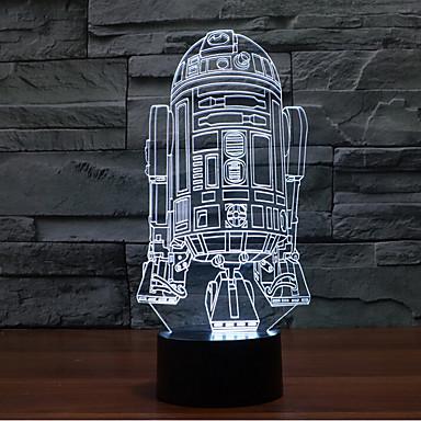 1 stuks 3D-nachtlampje Decoratief LED
