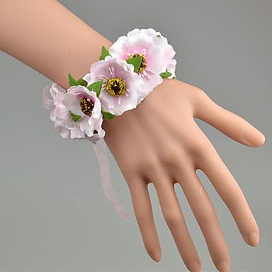 Bouquets de Noiva Buquê de Pulso Casamento Tule Renda Poliéster 1.18