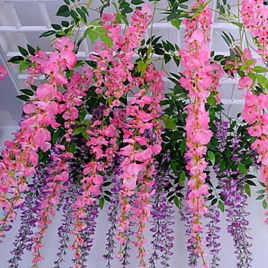 1 Afdeling Polyester Plastik Andre Vægblomst Kunstige blomster