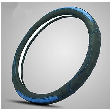 abordables Accessoires Intérieur de Voiture-vert gainé de cuir enjoliveur dérapant respirant absorbant confortable et durable