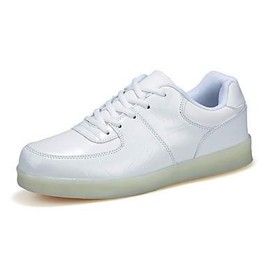 Heren Sneakers Comfortabel Oplichtende schoenen PU Lente Zomer Herfst Causaal Comfortabel Oplichtende schoenen Platte hak Wit
