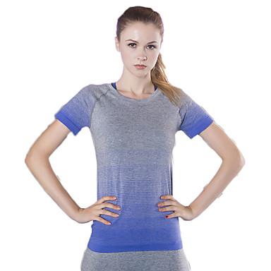 Mulheres Camiseta de Corrida Manga Curta Secagem Rápida Respirável Compressão Confortável Roupas de Compressão Blusas para Exercício e