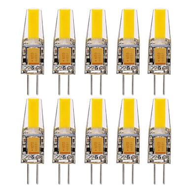 10pçs 1.5W 150-200lm G4 Luminárias de LED  Duplo-Pin T 1 Contas LED COB Impermeável Decorativa Branco Quente Branco Frio Branco Natural