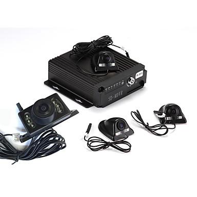 sw - 0001 - 360 - graden panorama 4 night vision camera voertuig parkeren video-monitor cyclus