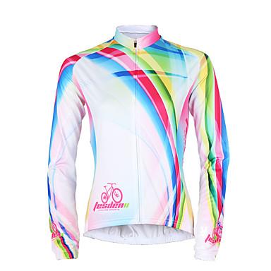 TASDAN חולצת ג'רסי לרכיבה בגדי ריקוד נשים שרוול ארוך אופניים ג'רזי צמרות חורף בגדי רכיבת אופניים ייבוש מהיר עמיד אולטרה סגול נושם תומך