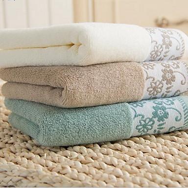 Frisk stil Vaskehåndklæde, Jacquard Vævning Overlegen kvalitet 100% bomuld Strikket Almindelig Håndklæde