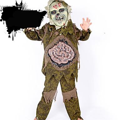 Cosplay Kostumer Festkostume Zombie Festival/Højtider Halloween Kostumer Ensfarvet Top Bukser Maske Halloween Mand