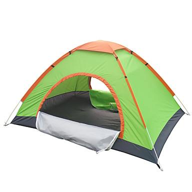 billige Telt og ly-2 personer Telt Utendørs Vanntett Vindtett Hold Varm Dobbelt Lagdelt camping Tent til Jakt Fisking Vandring / Ultra Lett (UL)