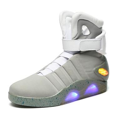 Sneakers-RuskindHerre-Sort Hvid Grå-Udendørs-Flad hæl