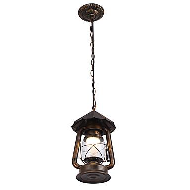 Rustikt/hytte Vintage Tromme Lanterne Land Tradisjonell / Klassisk Retrorød Moderne / Nutidig designere Vedhæng Lys Baggrundsbelysning Til