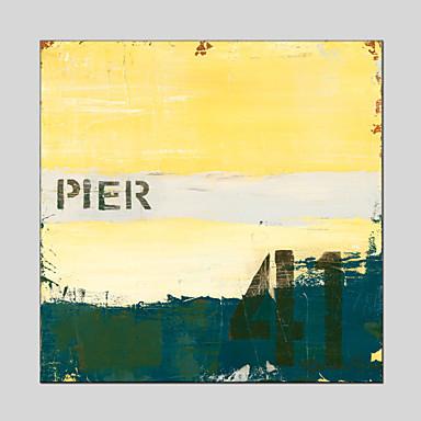 Handgeschilderde Abstract Olie schilderijen,Pastoraal / Europese Stijl / Modern / Klassiek / Traditioneel / Realisme / MediterraansEén