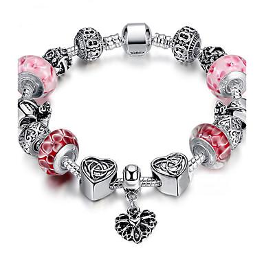 Perler Vedhend Armband / Strand Armbånd / ID armbånd - Sølvplett Mote Armbånd Grønn / Rosa / Gylden Til Julegaver / Bryllup / Fest