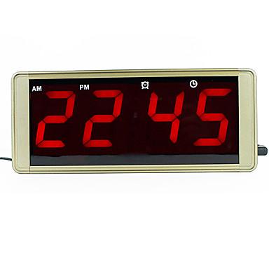 ultra nagy kijelző led digitális falióra fém ház dugó fagyasztott  ébresztőóra vezetett elektronikus asztali óra 6d13cb07bb