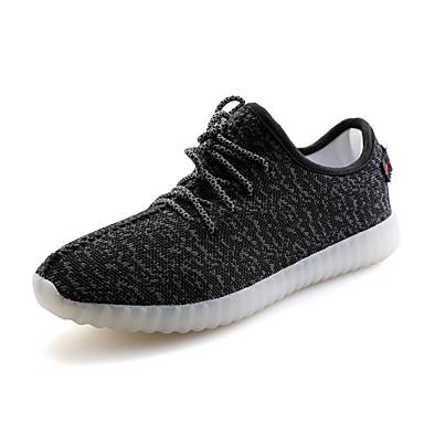 Dames Platte schoenen Lente Zomer Herfst Winter Comfortabel Light Up Schoenen Tule Buiten Casual Platte hak Creepers LED Zwart Rood Grijs