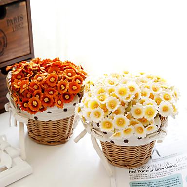 1 1 haara Polyesteri Päivänkakkarat Pöytäkukka Keinotekoinen Flowers 7inch/18cm