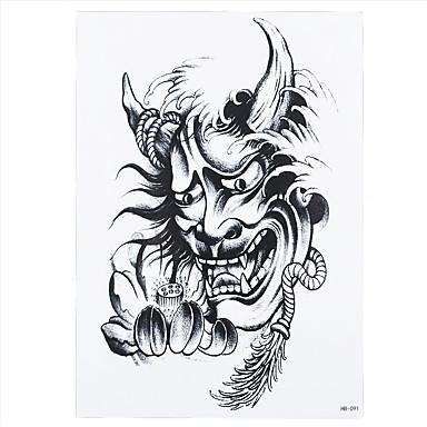 Tatoveringsklistremerker Totem Serier Ikke Giftig Mønster Korsryggen VanntettDame Herre Voksen Flash-tatovering midlertidige Tatoveringer
