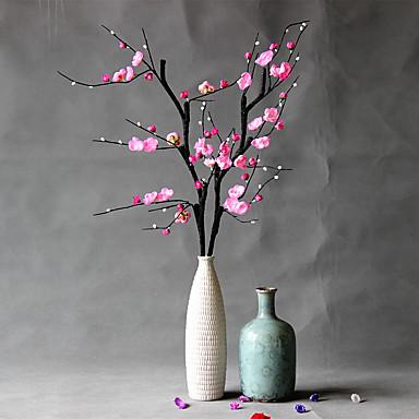 1 1 Ramo Poliéster / Plástico Ameixa Flor de Mesa Flores artificiais 39..37inch/100cm