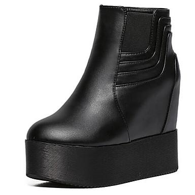 Støvler-Kunstlæder-Ridestøvler-Dame-Sort-Udendørs Fritid-Kilehæl