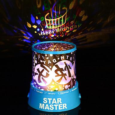 1pc levou usb aleatórios lâmpada colorpattern lâmpadas do projetor domésticos brilhante dos desenhos animados night-light