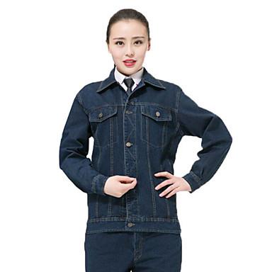 herfst dikke lange mouwen gewassen denim overalls pak lassen beschermende kleding mijnwerkers kleding tooling