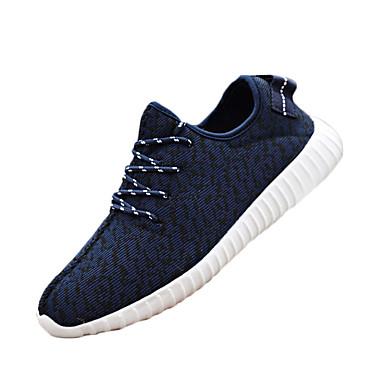 Sneakers-StofHerre-Sort Blå Rød Grå-Udendørs Sport-Flad hæl