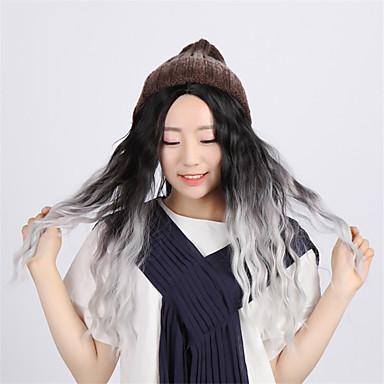 Synthetische Haare Perücken Locken Kappenlos Karnevalsperücke Halloween Perücke Cosplay Perücke