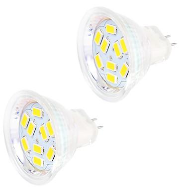 2W GU4(MR11) LED Doppel-Pin Leuchten MR11 9 Leds SMD 5730 Dekorativ Warmes Weiß Kühles Weiß 200lm 3000-3500/6000-6500K DC 12V